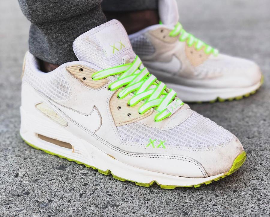 Kaws x Nike Air Max 90 White - @whatthevaiku