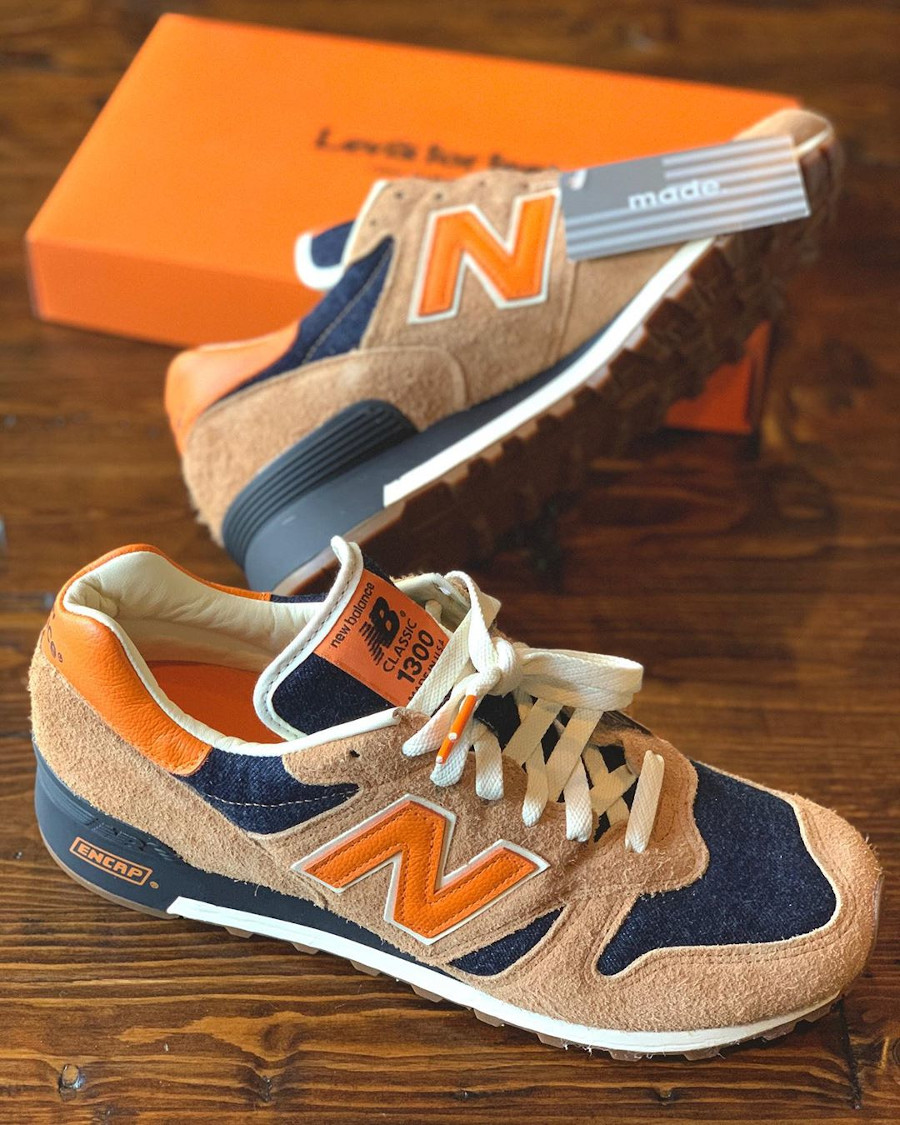 Levi's x New Balance 1300 Denim 'Orange Tab' (made in USA) (5)