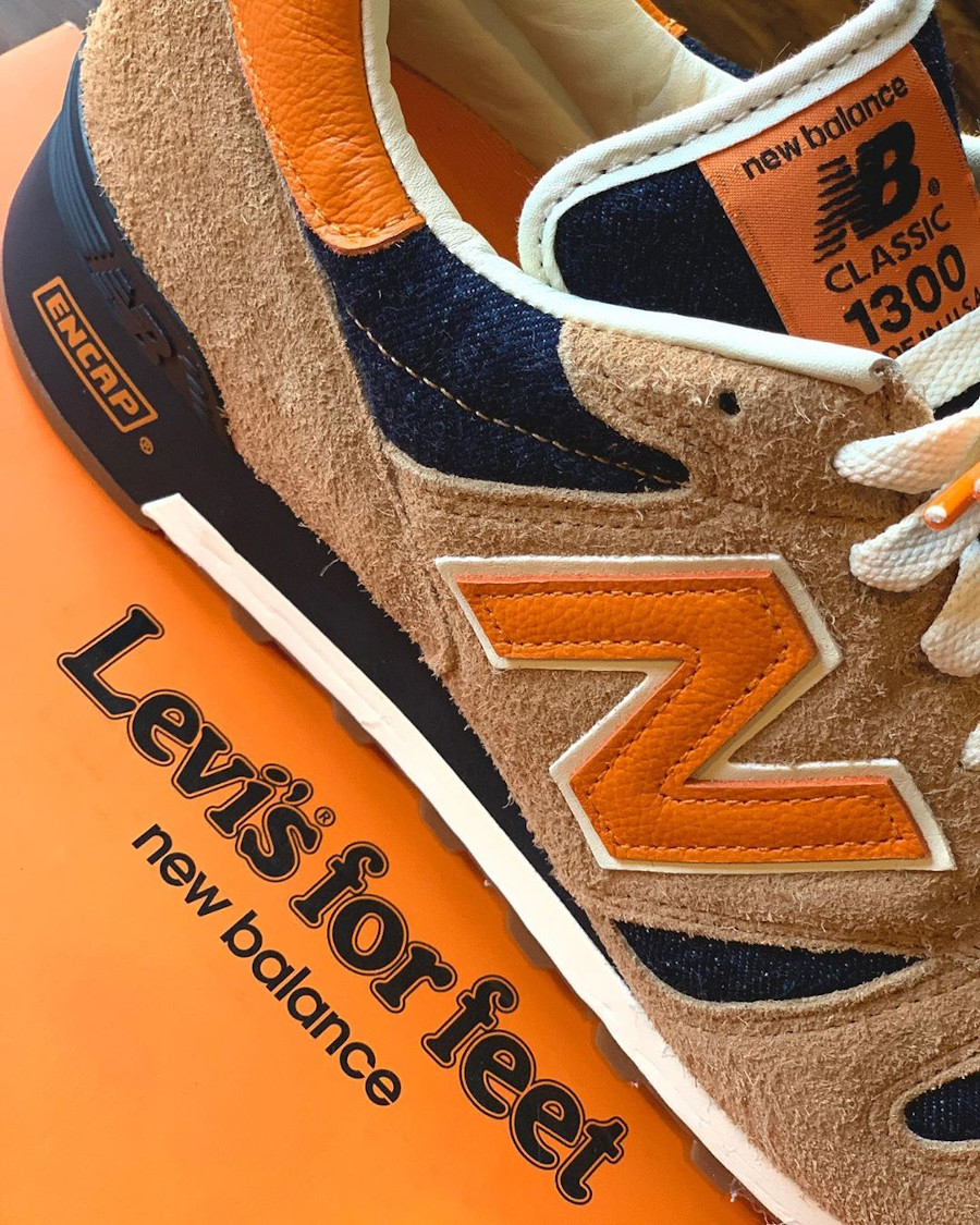 Levi's x New Balance 1300 Denim 'Orange Tab' (made in USA) (6)