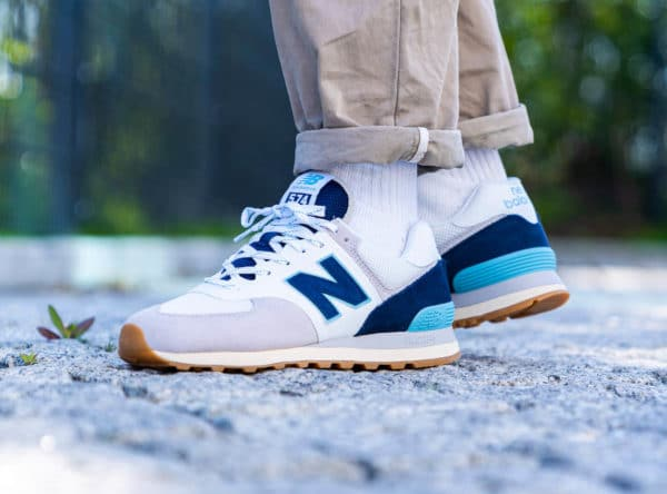 New Balance ML574SOU Core Plus Rain Cloud Bali Blue