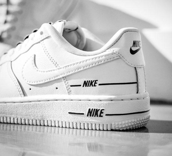 Nike Air Force 1 '07 LV8 Overbranding 'White Black' (1)