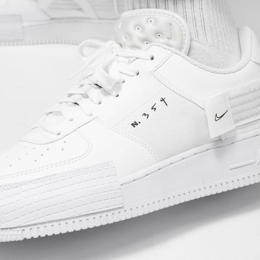 Nike Air Force 1 AF1 Type 2 N354 Triple White CT2584-100 (1)