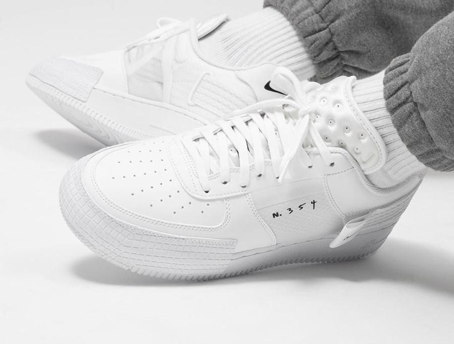 Nike Air Force 1 AF1 Type 2 N354 Triple White CT2584-100 (5)