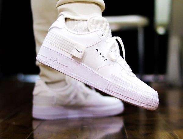 Nike Air Force 1 AF1 Type 2 N354 Triple White CT2584-100