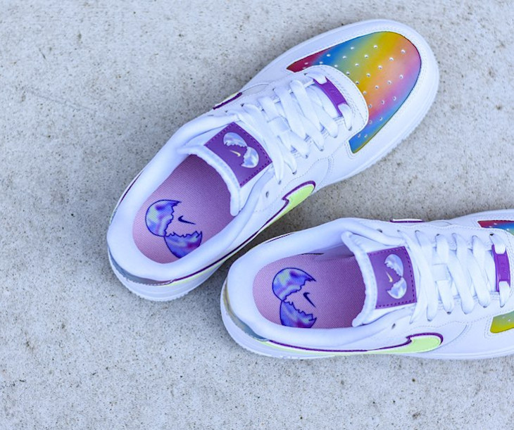 Que vaut la Nike Air Force 1 Easter Egg 2020 Multicolore