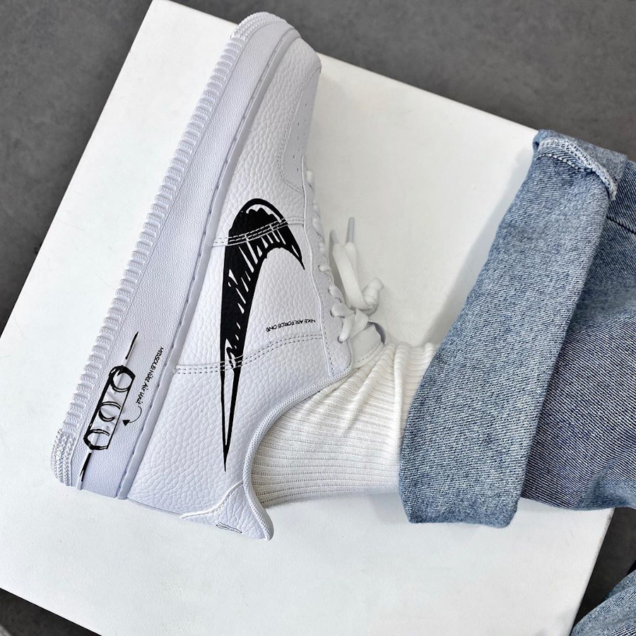 Nike Air Force 1 LV8 Utility Sketch Pack 'White Black' (6-1)