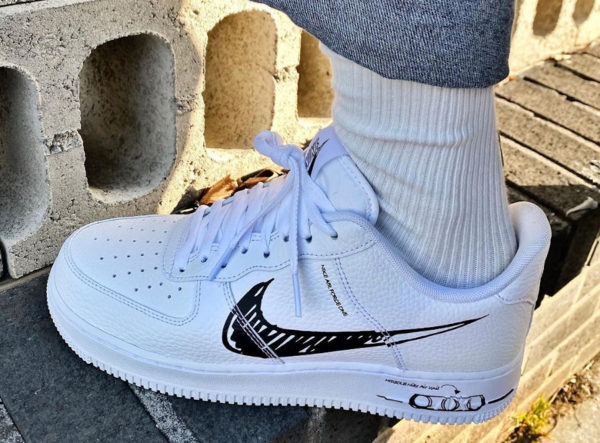Nike Air Force 1 LV8 Utility Sketch Pack 'White Black' (6)