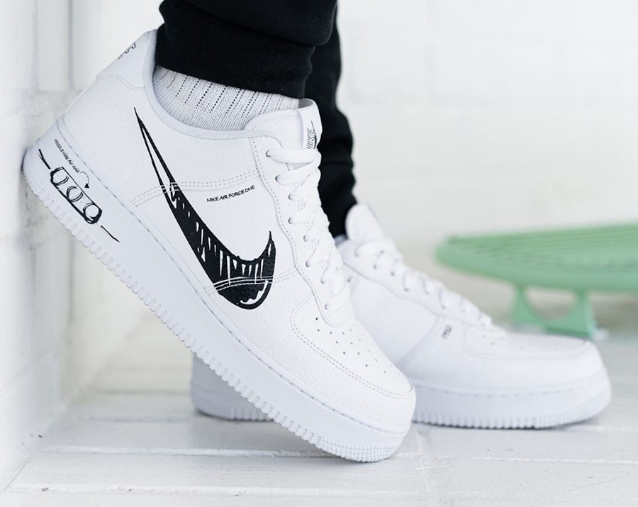 Nike Air Force 1 LV8 Utility Sketch Pack 'White Black' (7)