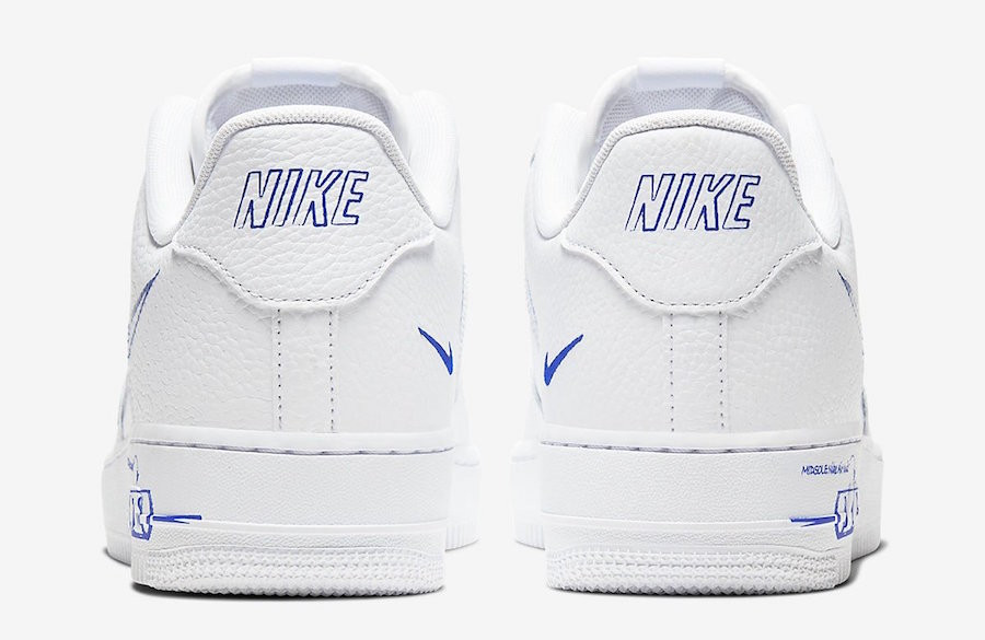 Nike Air Force 1 LV8 Utility 'Sketch Pack' White Racer Blue (6)
