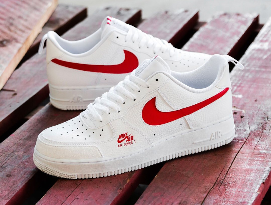 Nike Air Force 1 Low LV8 Utility White Red CW7579-101