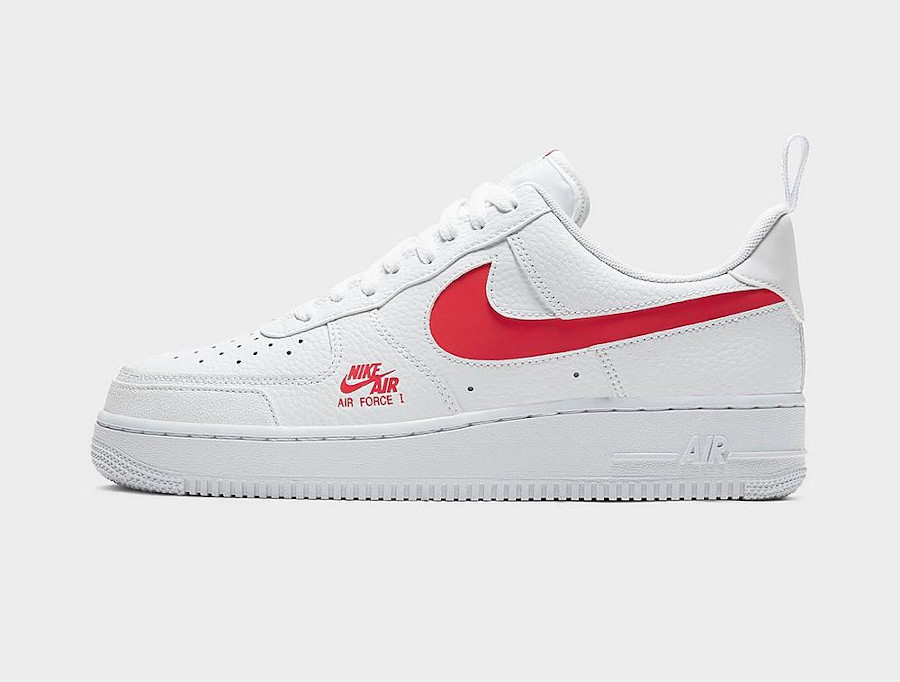 Nike Air Force 1 Low LV8 Utility White University Red (2)