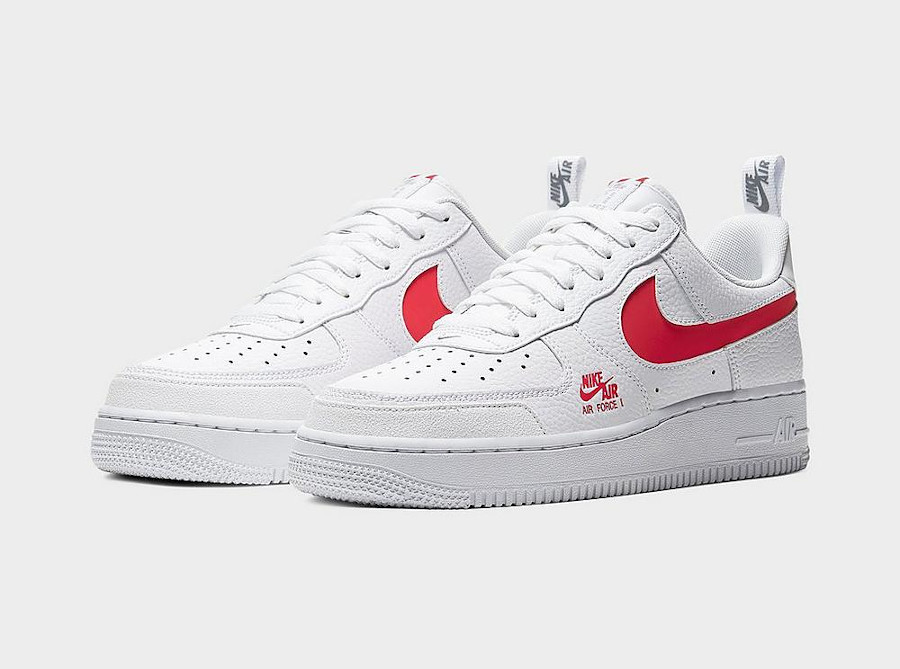 Nike Air Force 1 Low LV8 Utility White University Red (3)