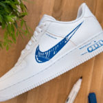 Nike Air Force 1 LV8 Utility 'Sketch Pack' White Racer Blue