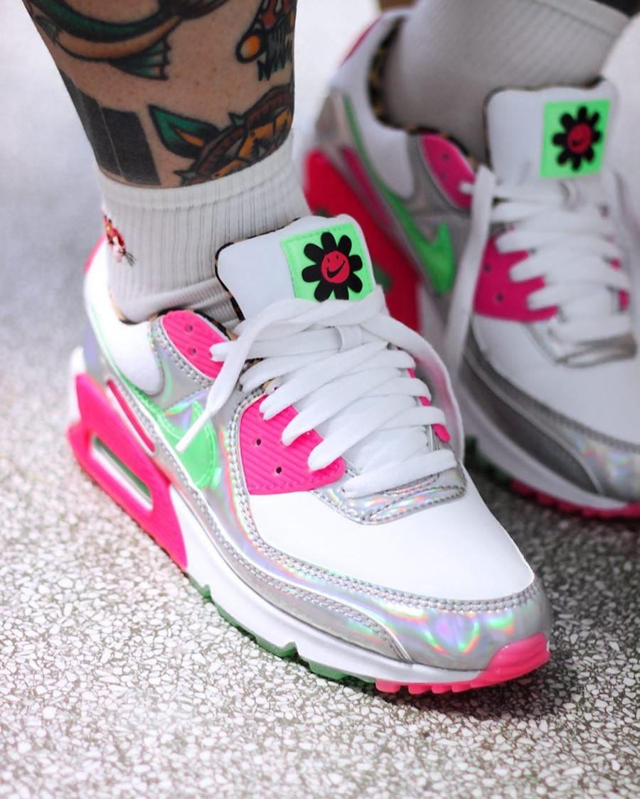 Que vaut la Nike Air Max 90 LX Daisy Leopard Iridescent