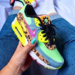 Nike Wmns Air Max 90 LX '90's Dancefloor' Illusion Green Sunset Pulse