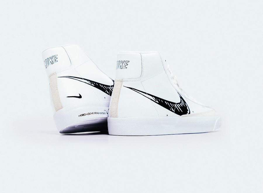 Nike Blazer Mid Vintage '77 'Sketch Pack' White Black Platinum Tint (2)
