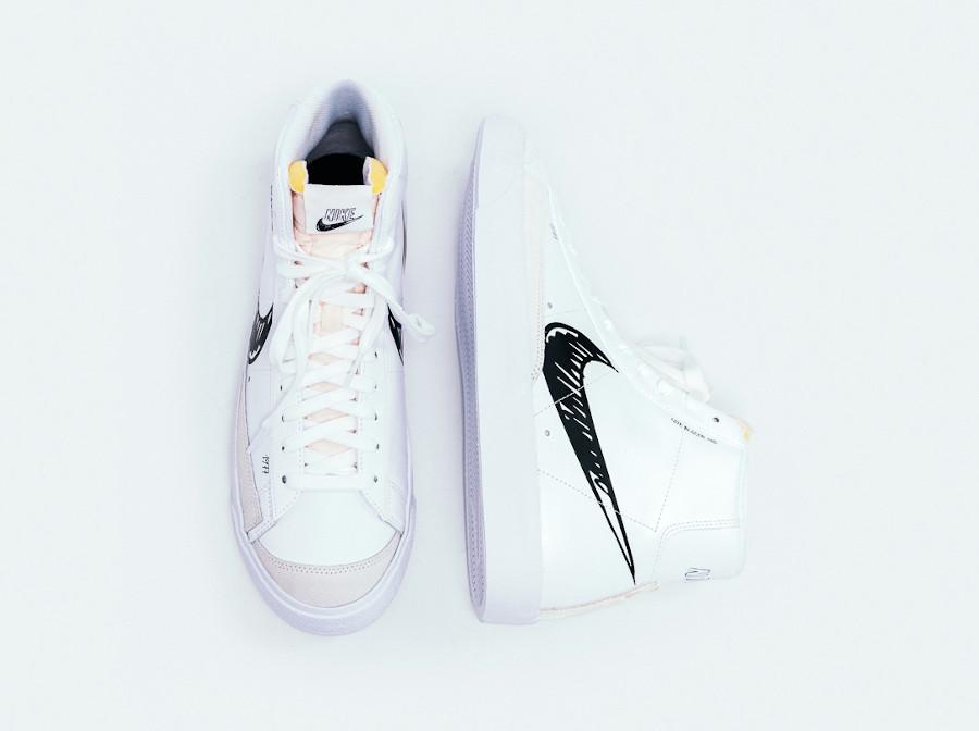 Nike Blazer Mid Vintage '77 'Sketch Pack' White Black Platinum Tint (3)