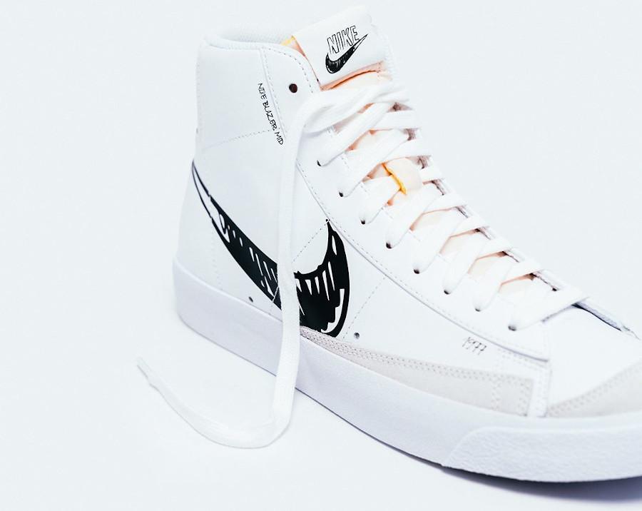 Nike Blazer Mid Vintage '77 'Sketch Pack' White Black Platinum Tint (4)