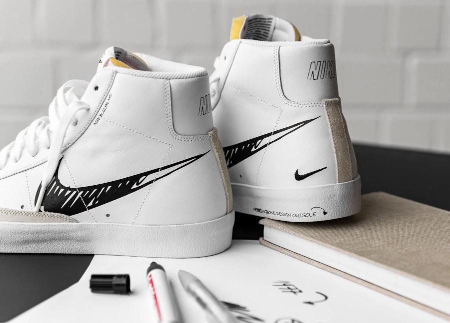 Nike Blazer Mid Vintage '77 'Sketch Pack' White Black Platinum Tint (5)