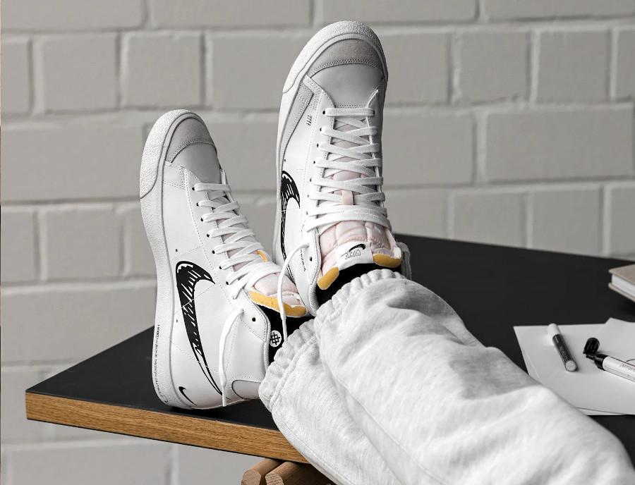 Nike Blazer Mid Vintage '77 'Sketch Pack' White Black Platinum Tint (6)