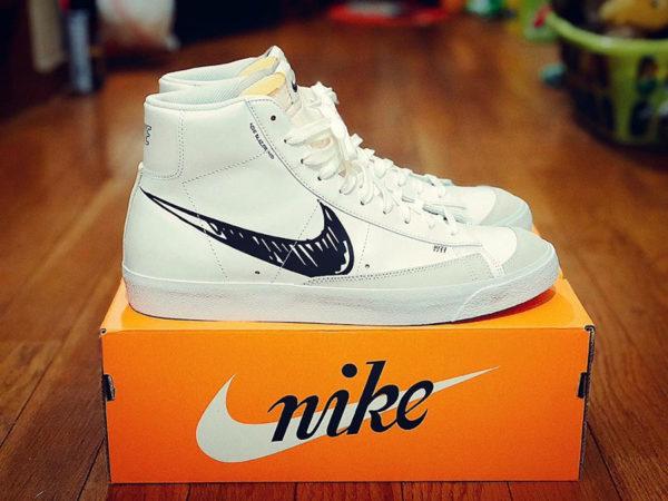 Nike Blazer Mid Vntg '77 Sketch White Black CW7580-101