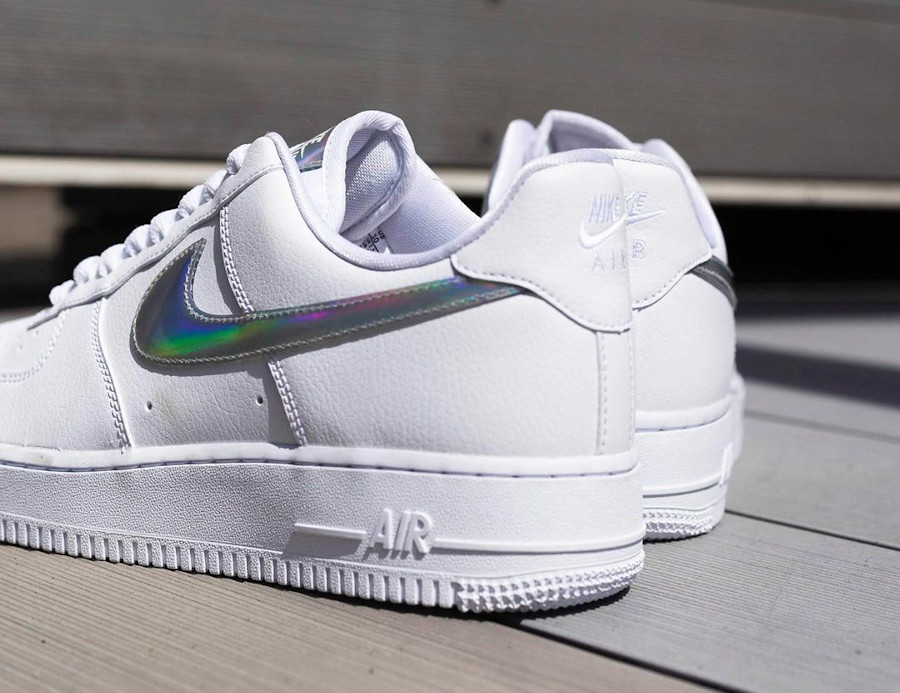 Nike Wmns Air Force 1 07 Essential 'Iridescent Swoosh' (1)