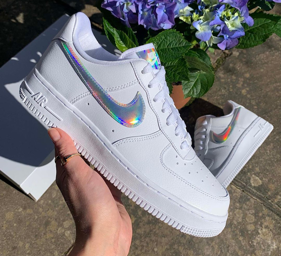 Nike Wmns Air Force 1 07 Essential 'Iridescent Swoosh' (3)