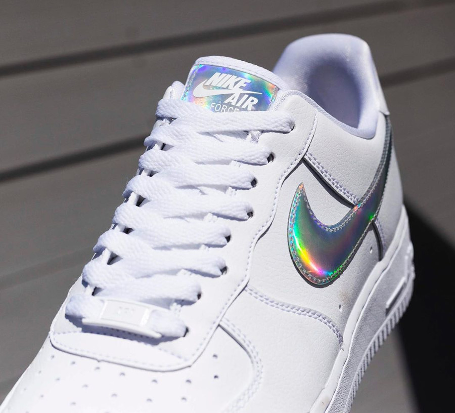 Nike Wmns Air Force 1 07 Essential 'Iridescent Swoosh' (5)
