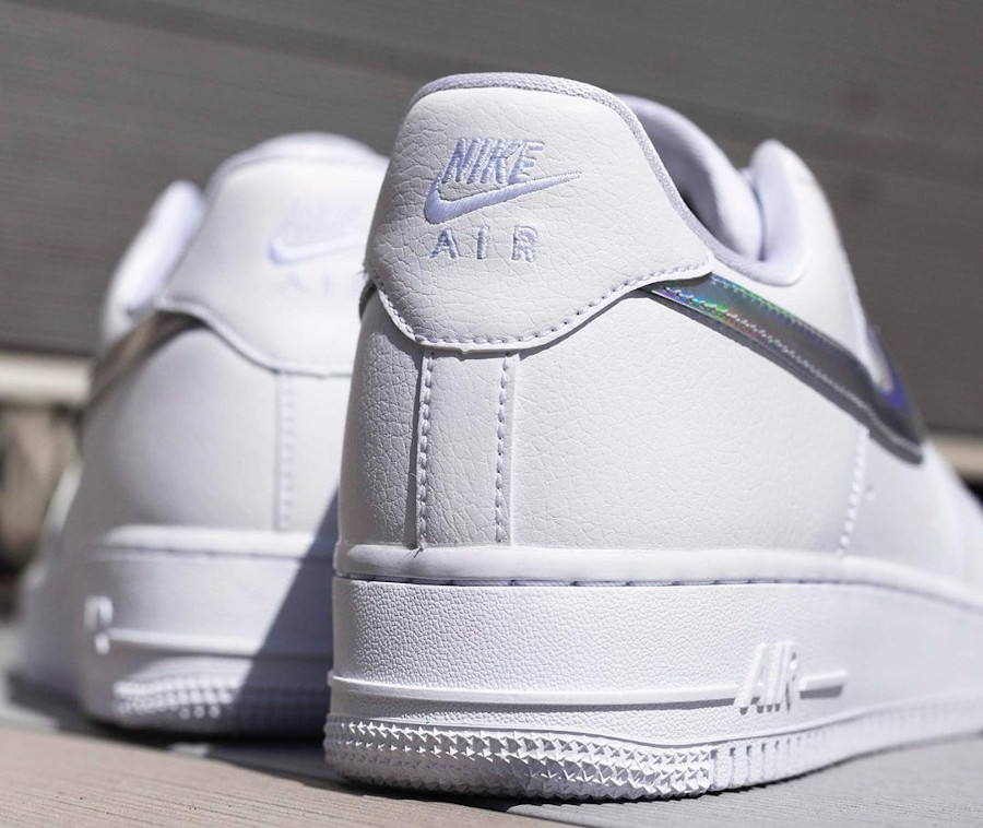 Nike Wmns Air Force 1 07 Essential 'Iridescent Swoosh' (6)