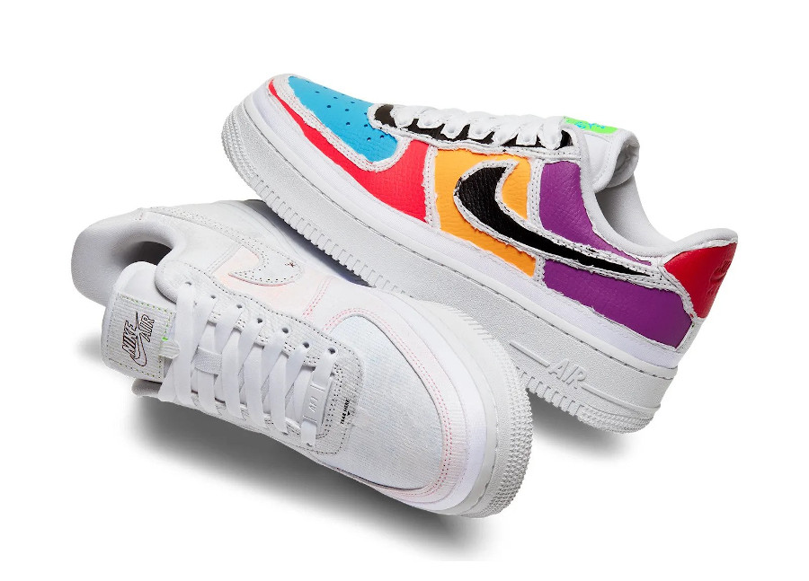 Nike Wmns Air Force 1 'Reveal' (Tear Here) Multicolor