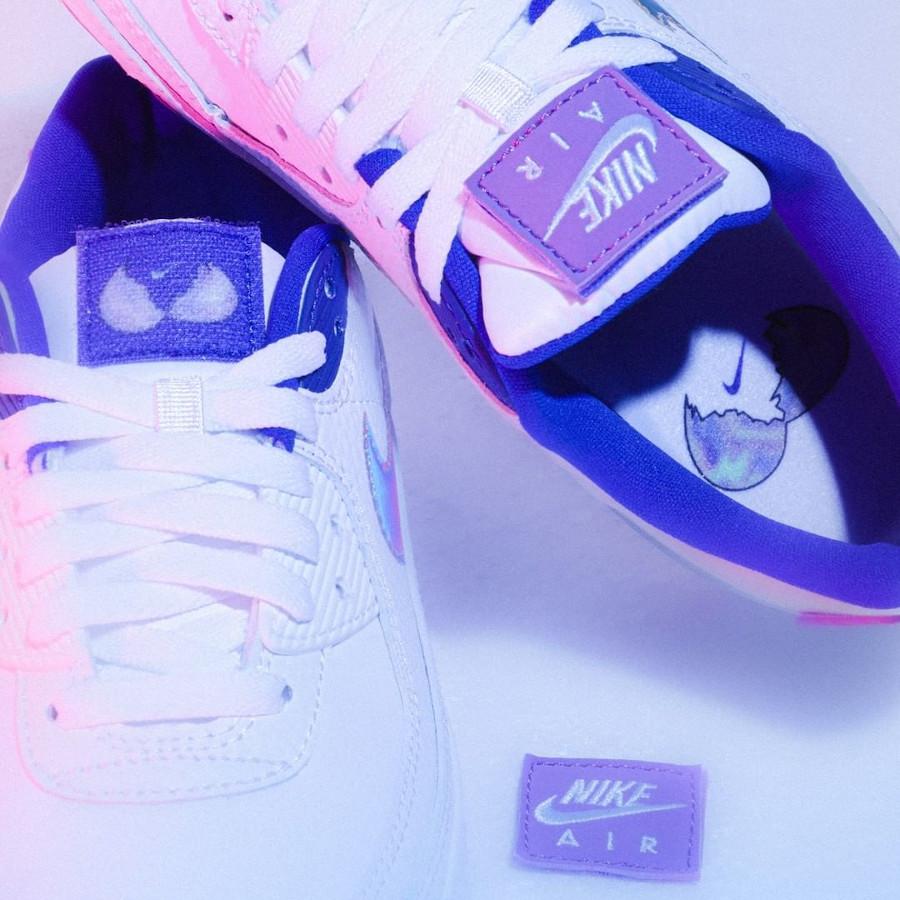 Nike Wmns Air Max 90 SE Easter 2020 (Multicolor Purple Nebula) (1)