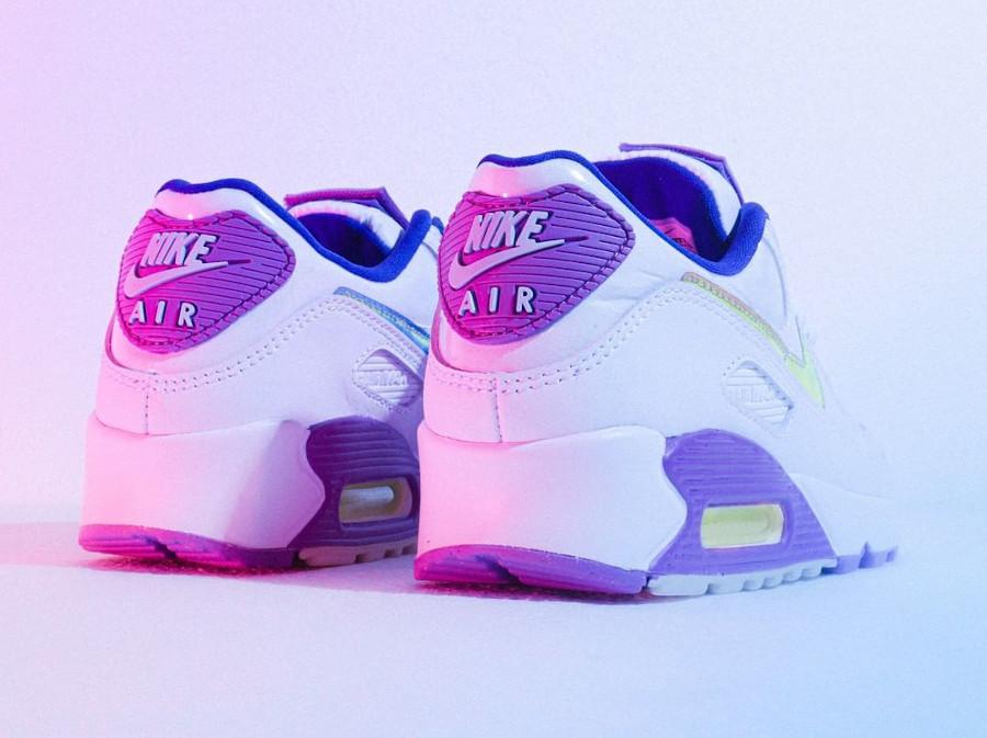 Nike Wmns Air Max 90 SE Easter 2020 (Multicolor Purple Nebula) (2)