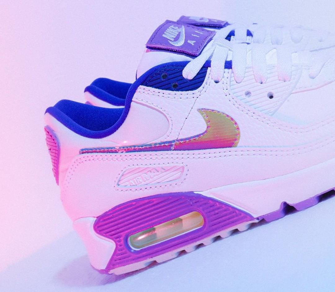 Nike Wmns Air Max 90 SE Easter 2020 (Multicolor Purple Nebula) (4)