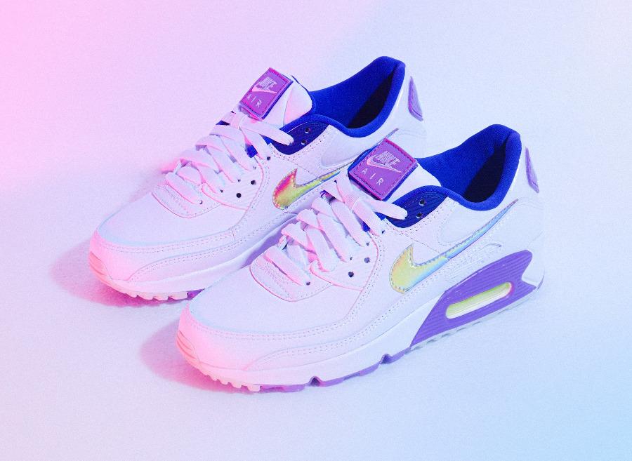 Nike Wmns Air Max 90 SE Easter 2020 (Multicolor Purple Nebula) (6)