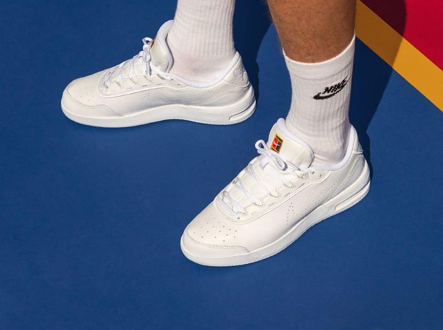 NikeCourt Air Max Vapor Wing Premium White on feet