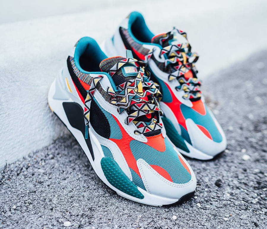 Puma RS-X³ Afrobeat Mix Teal Green (1)