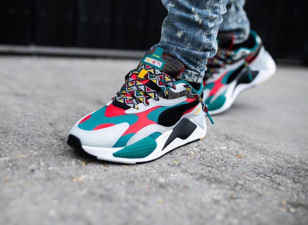 Puma RS-X3 Afrobeat Mix Teal Green Multicolor 373183-02