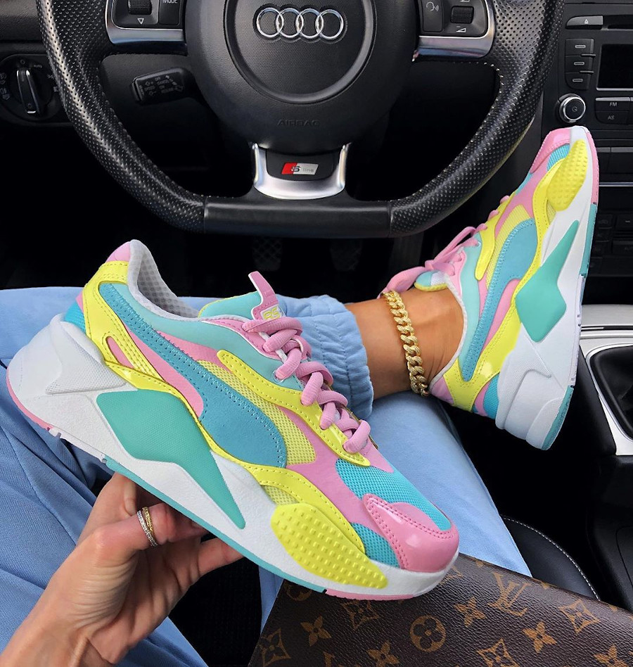 Puma RS-X³ Plastic Wn's 'Pastel' Gulf Stream Sunny Lime (1)