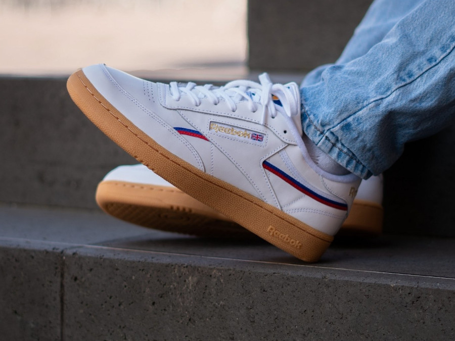 Reebok Club C 85 MU Piping 'White Radiant Red Blue Blast' (3)