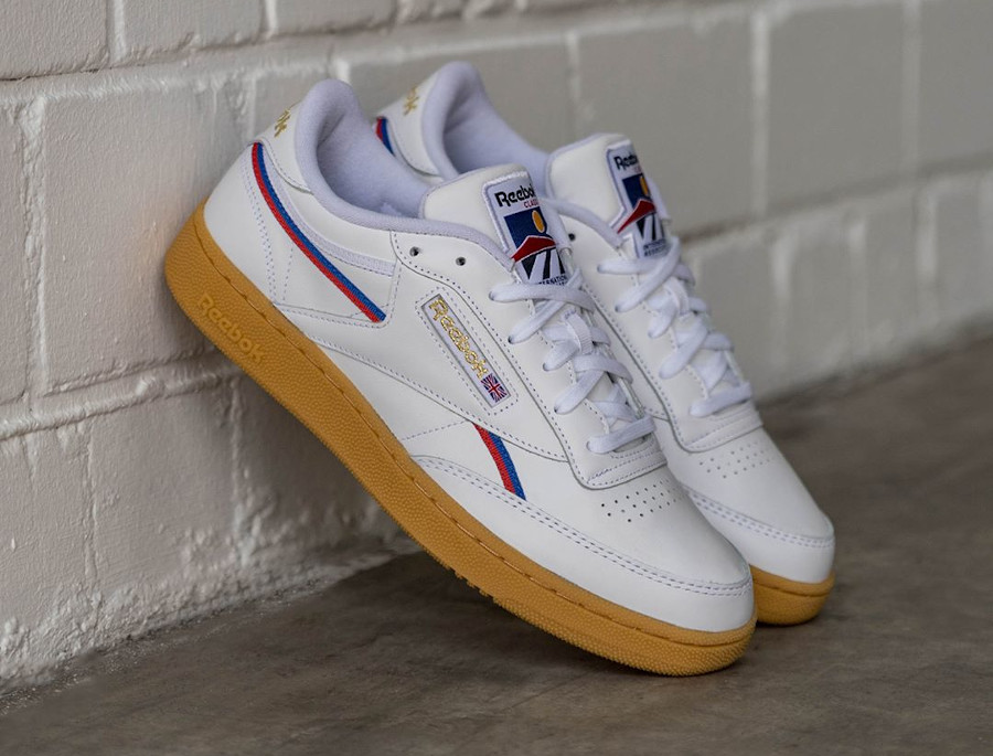 Reebok Club C 85 MU Piping 'White Radiant Red Blue Blast' (4)