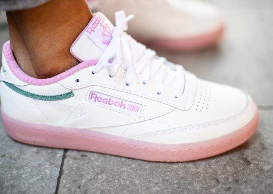 Reebok Club C 85 W White Jasmine Pink EF3493