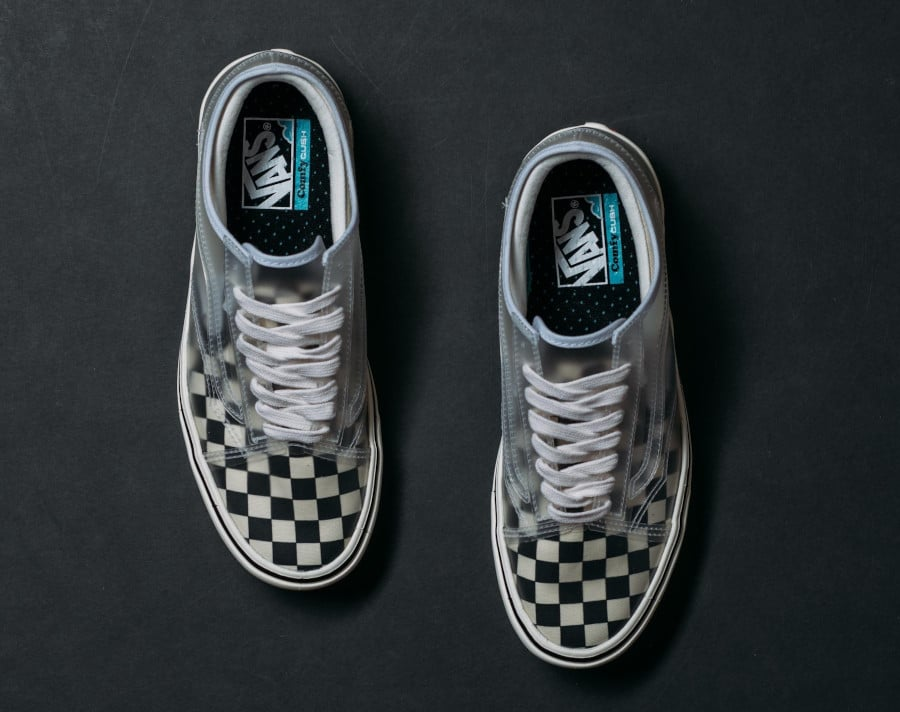 Vans Comfycush Slip Skool Checkerboard 'Black White' (1)
