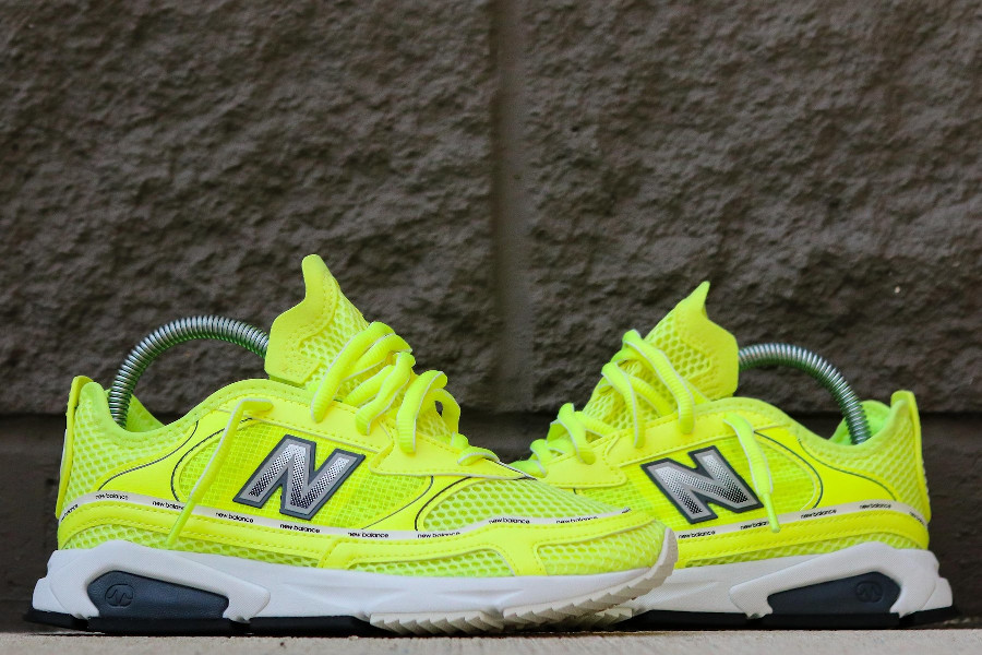 Women's New Balance X-Racer 'Lemon Slush Black' (2)