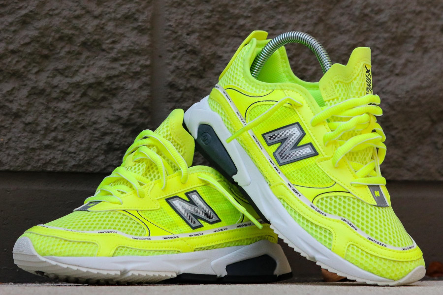 Women's New Balance X-Racer 'Lemon Slush Black' (3)