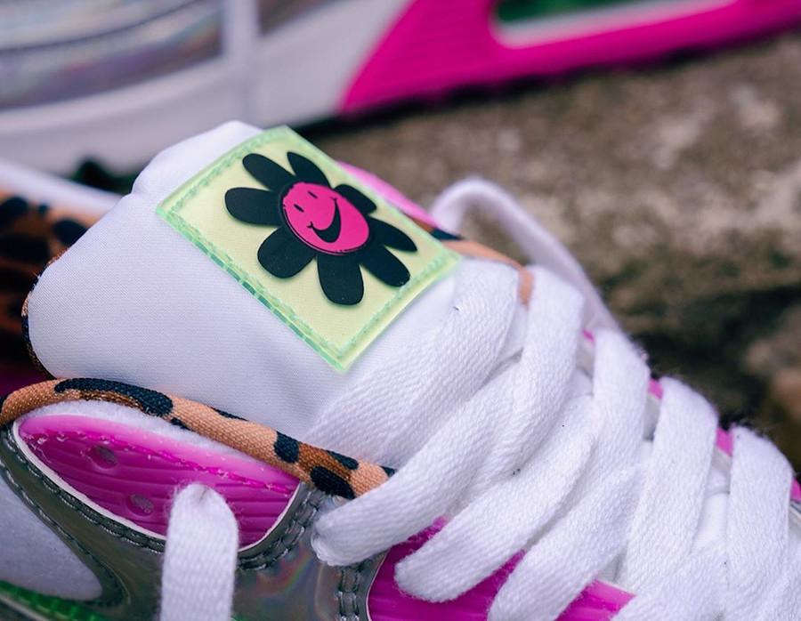 Womens Nike Air Max 90 irisée free party (3)
