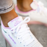 Women's Reebok Club C 85 'White Green Slate Jasmine Pink'