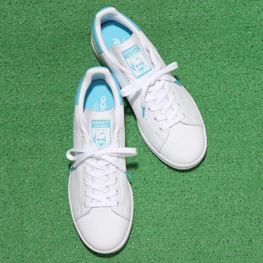 Adidas Stan Smith 2020 blanche et bleu ciel (1)