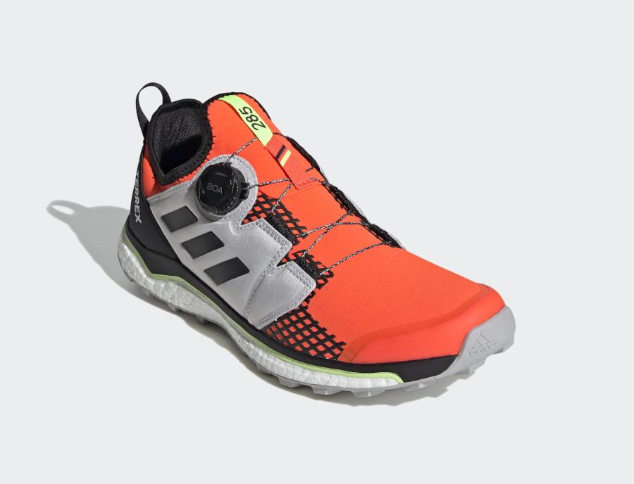 Adidas Terrex Agravic Boa Solar Red Core Black Grey Toe (3)