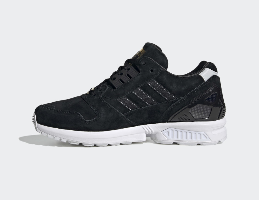 Adidas ZX 8000 Suede Core Black Cloud White (3)