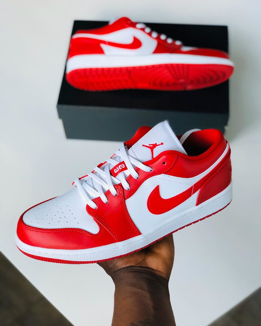Air Jordan 1 Low Gym Red New Beginnings 553558-611